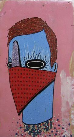 Dan Withey   Bendit- 2013   Acrylic on board   50 x 88cm