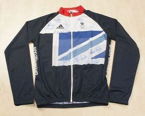 Team GB Cycling Shirt from London 2012 Olympics - Signed by all 11 Gold Medalists - Rare