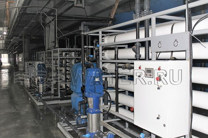 Общий вид системы водоподготовки