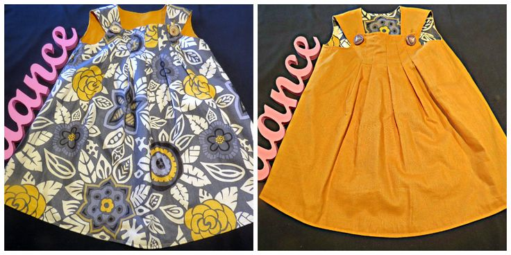 Reversible Pinafore, Size 1 by PrettyLittlePeachs on Etsy