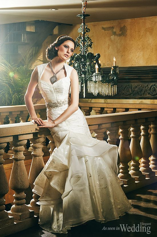 Romantic Wedding - Photography by Gabriel Rancourt Photography   Gown by: Melissa Gentile Couture http://www.elegantwedding.ca/