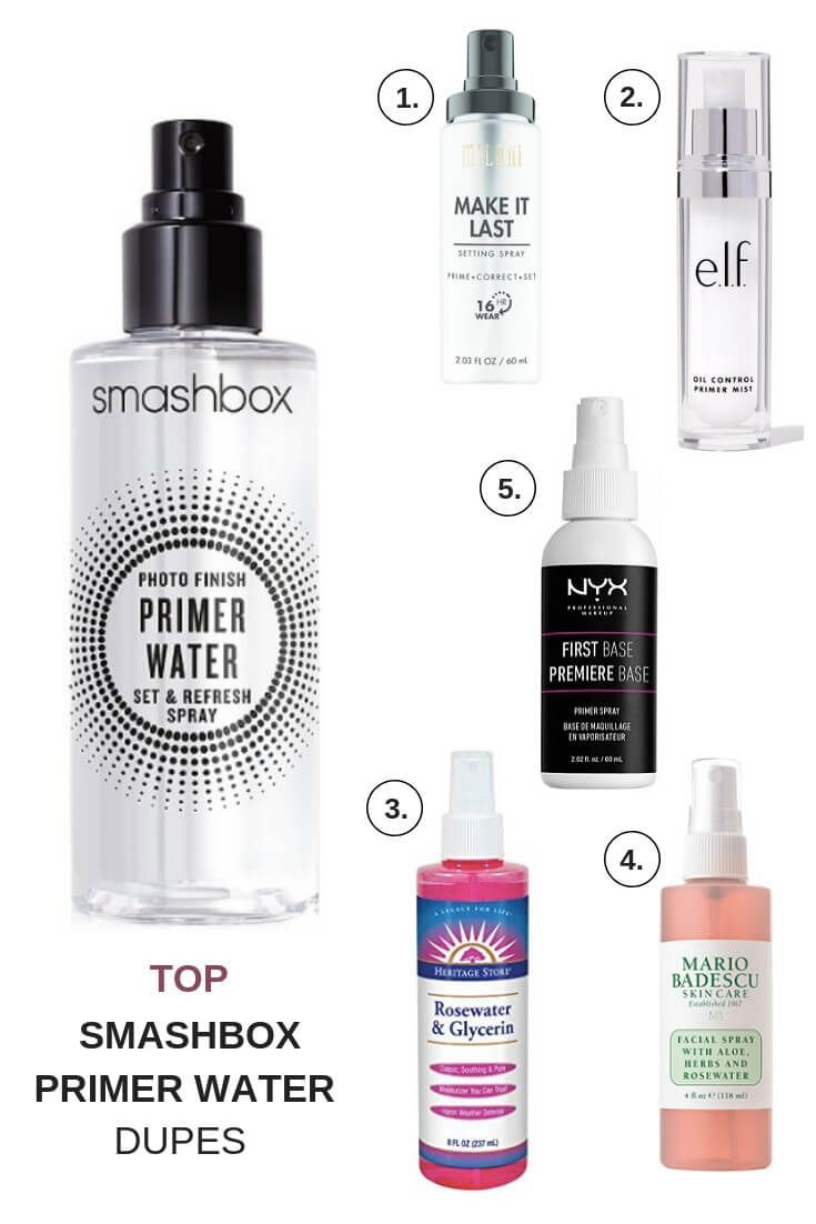 Here Are A Few Smashbox Photo Finish Primer Water Dupes Primer Water Smashbox Photo Finish Primer Makeup For Teens