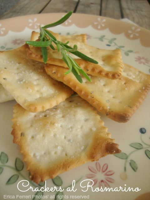 Crackers al rosmarino - Con scarti del rinfresco LM