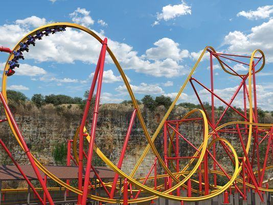 Instead of two rails like traditional coasters, Wonder Woman Golden Lasso will be the world's first single-rail IBox track coaster.