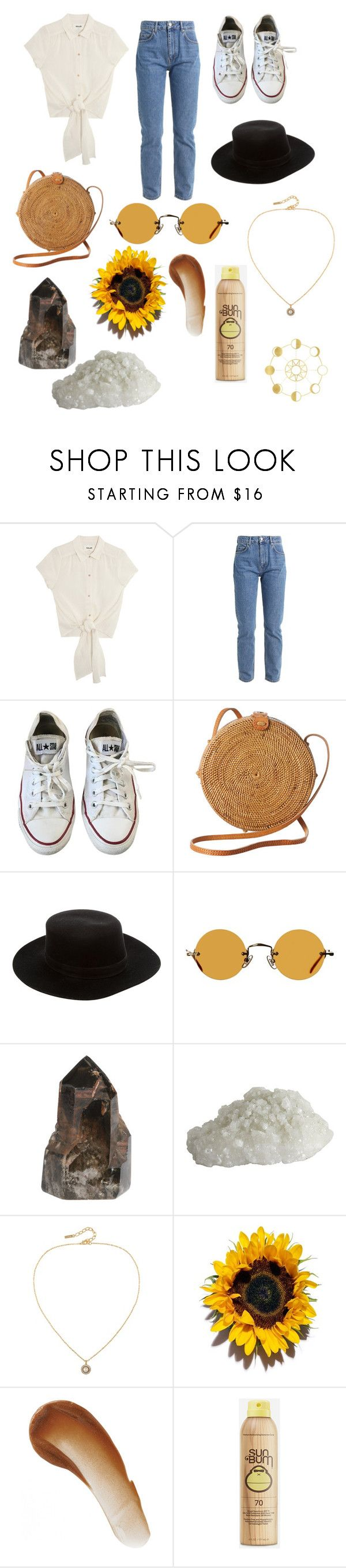 """Fangirl"" by emmylong04 ❤ liked on Polyvore featuring Converse, Faithfull, Janessa Leone, Hakusan, Susan Caplan Vintage, This Works and Sun Bum"