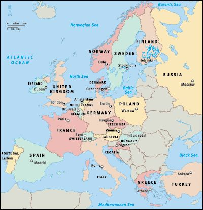 European countries traveled:  Spain, Gibraltar, France, Belgium, Luxembourg, Germany, Netherlands, Switzerland, Monaco, England, Scotland, Wales, Scandinavia.