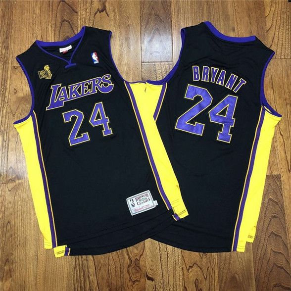 2020 Los Angeles Lakers #24 Kobe Bryant Black 2009 NBA Champions ...