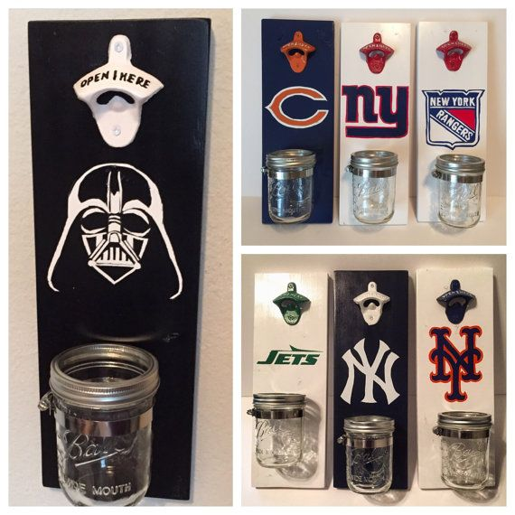 Perfect for groomsmen gifts, man cave or the bar! Customized, hand painted bottle opener.