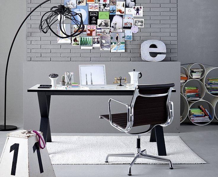 Luxurious loft style work space.