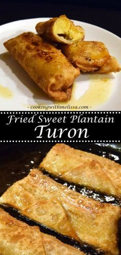 Fried Sweet Plantain Turon - Super easy and really Sweet Plantain Recipe!