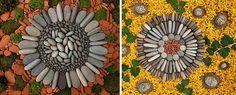 Artista crea opere d'arte con foglie e sassi disposte in forme geometriche - http://www.ahboh.it/arte-geometrica-dietmar-voorwold/