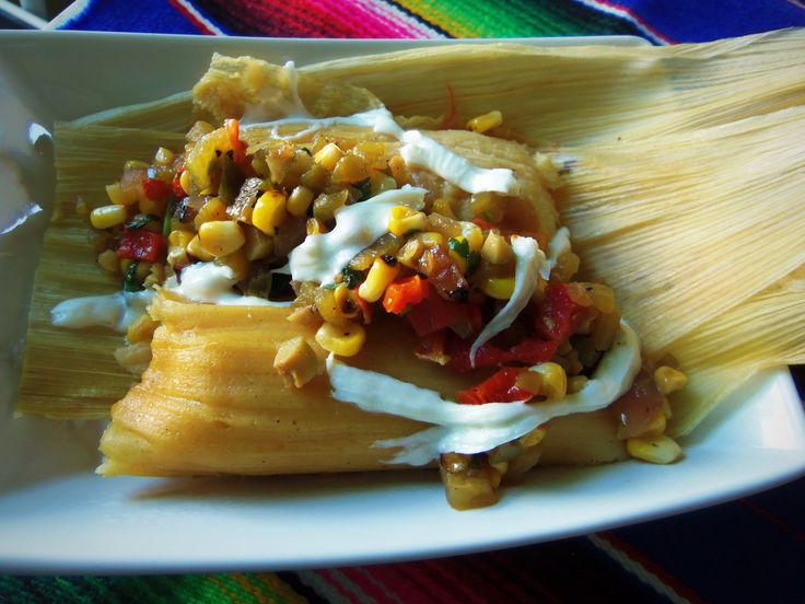 Grilled Corn, Green Chile and Cheese Tamal~ Tamal de Elote, Chile Verde Y Queso Oaxaca