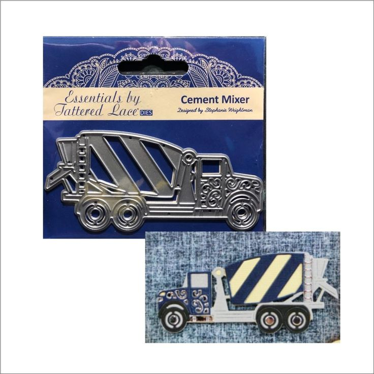 Cement Mixer Truck metal die Tattered Lace cutting dies ETL443 vehicle big rig #TatteredLace