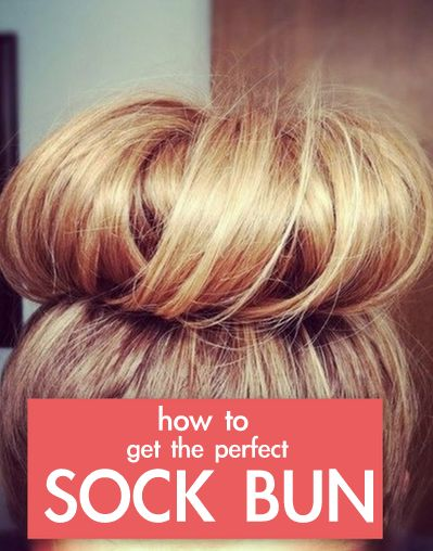 how to make a ballerina bun with a sock