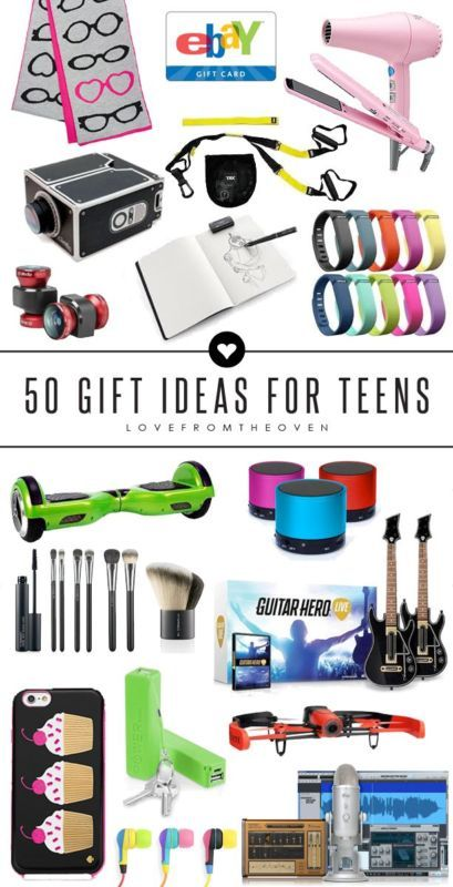 50 Gift Ideas For Teens.  I have such a hard time coming up with gifts for teens, this great guide has ideas for teens who love sports, art, music, their phones, are girly girls - everyone!  Great for Christmas gift ideas.