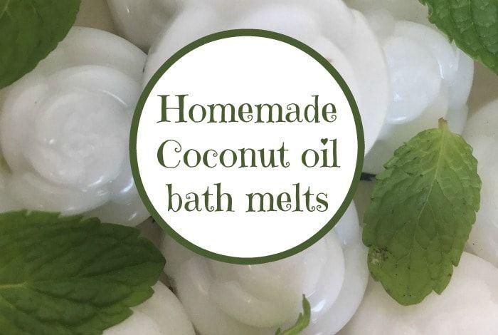 Homemade coconut oil bath melts