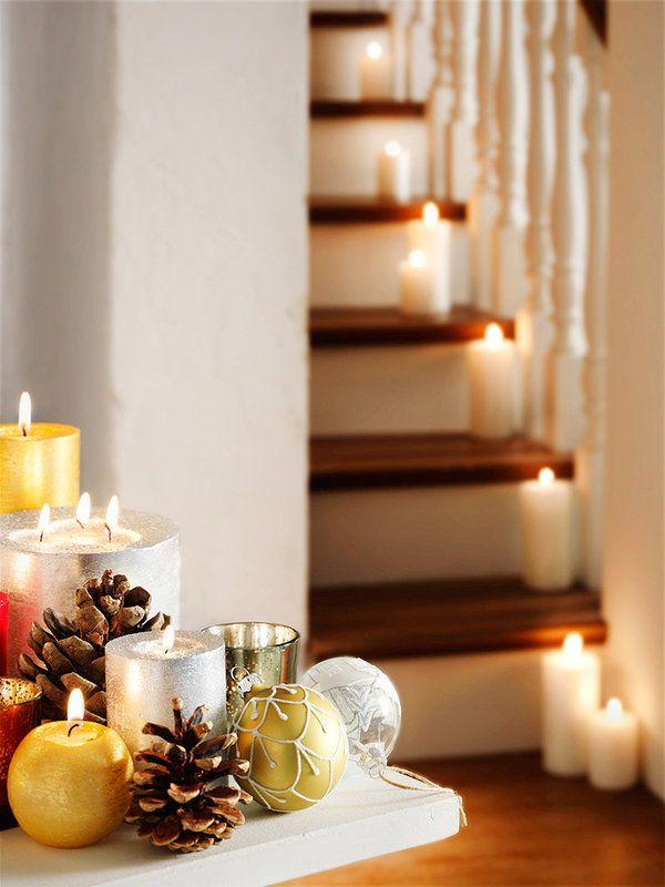 M s de 25 ideas nicas sobre casa decorada de navidad en for Ornamentacion para navidad