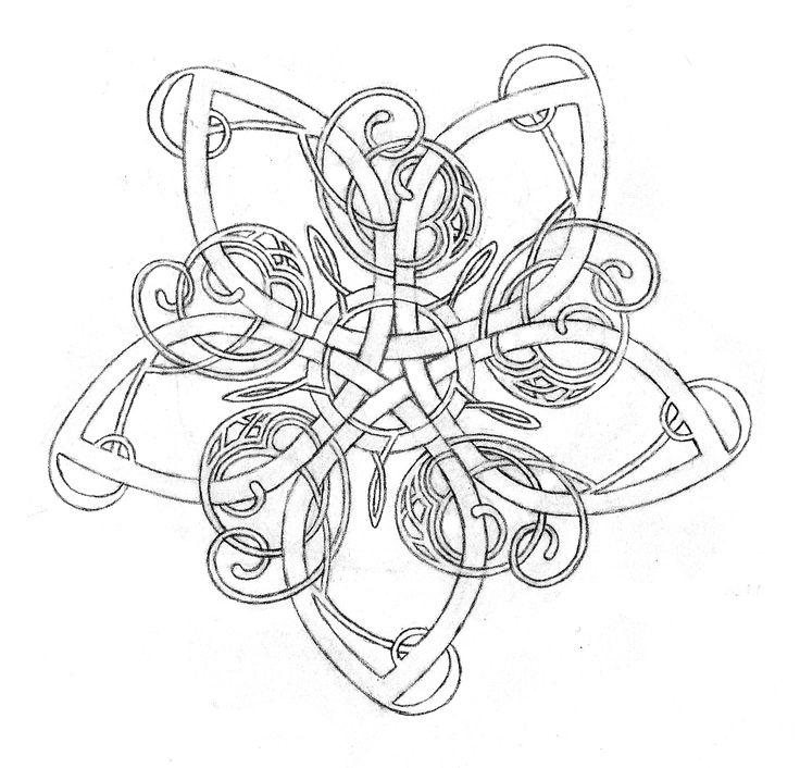 Celtic Flower Knot By Jenna Kass