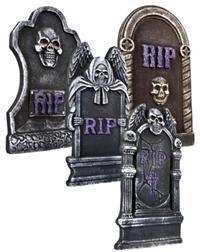 Mezar Taşı Dekor, 4 farklı model Halloween / Cadılar Bayramı partileri, korku temalı partiler için ideal parti dekoru!