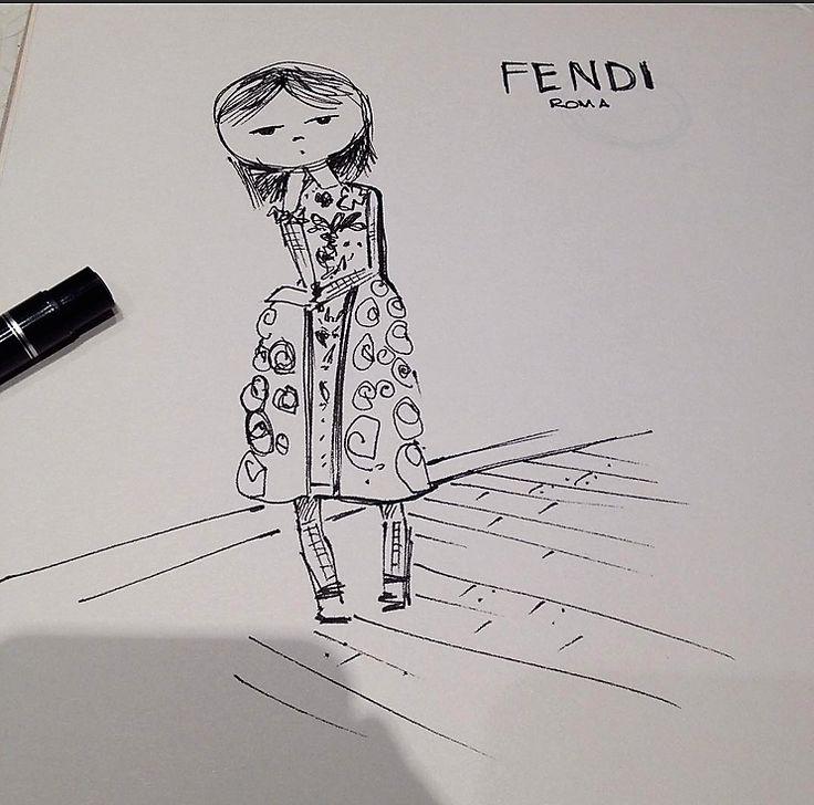 sketch #fendi #outfit#fashionillustration#fashion#sketch
