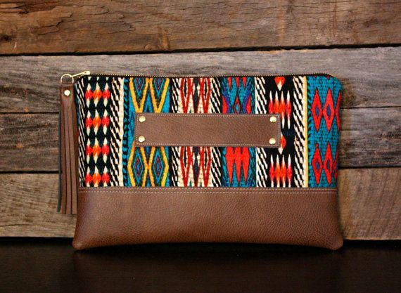 Navajo Bohemian Stripe Clutch / Kindle Case / by SweetPeaTotes