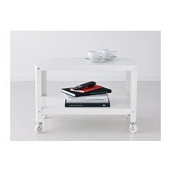 IKEA - IKEA PS 2012, Coffee table, red, , The casters make it easy to move the table if needed.Separate shelf for magazines, etc. helps you keep your things organized and the table top clear.
