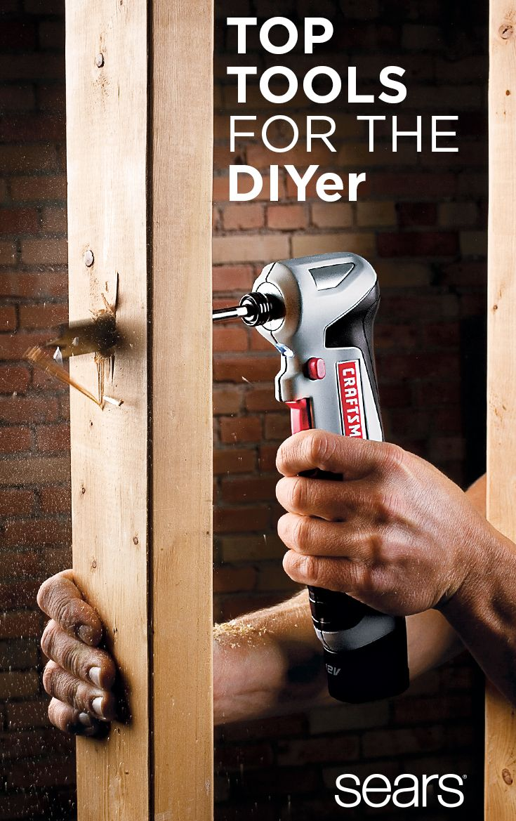Tackle DIY projects with these must-have tools. Power up with a Craftsman power drill for new home fixes and other remodeling ideas. This lithium ion driver powers through common household materials like wood, plastic and metal. You'll also want to gear up with a Craftsman general-purpose tool kit, which includes DIY essentials like a level, tape measure, wrenches and pliers, plus a durable bag for storage and organization. Discover more at Sears online and in store and take on cool DIY…