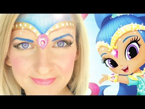 Nick Jr. Shimmer and Shine Face Painting Tutorial: Shine - YouTube