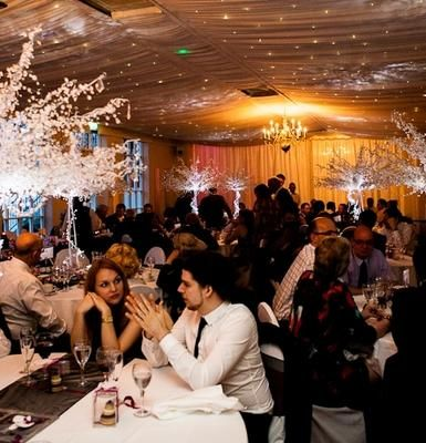 Crystal Tree Hire from http://juliacharleseventmanagement.co.uk/ #crystaltrees #giantcrystaltrees #weddingtablecentres # tablecentres