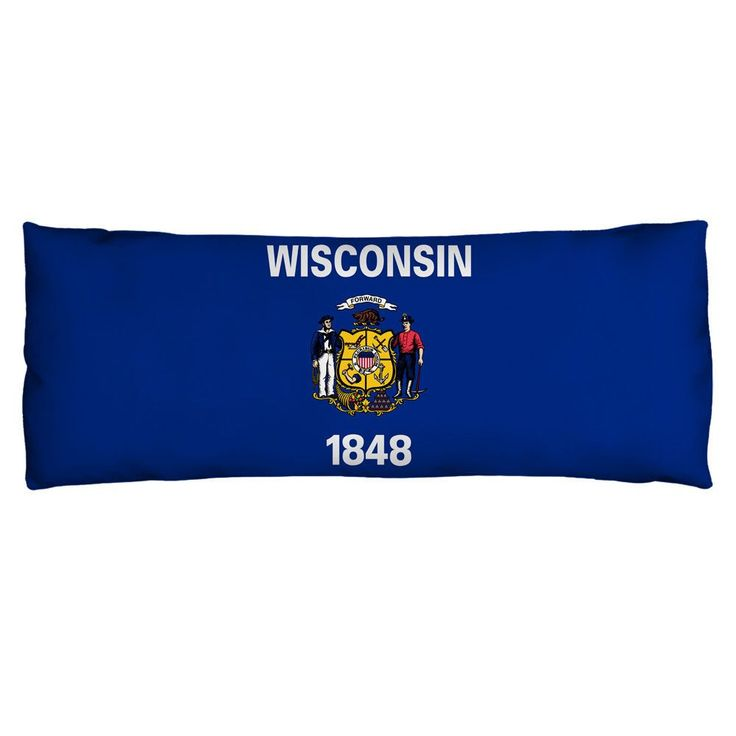 Wisconsin Flag Body Pillow