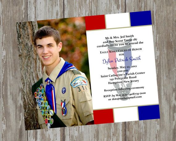 Eagle Scout Court of Honor Invitations - Prepared 2 white design-Digital File