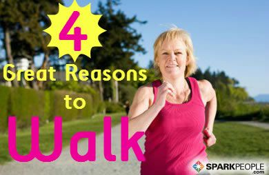 Health and Fitness Benefits of Walking via @SparkPeople