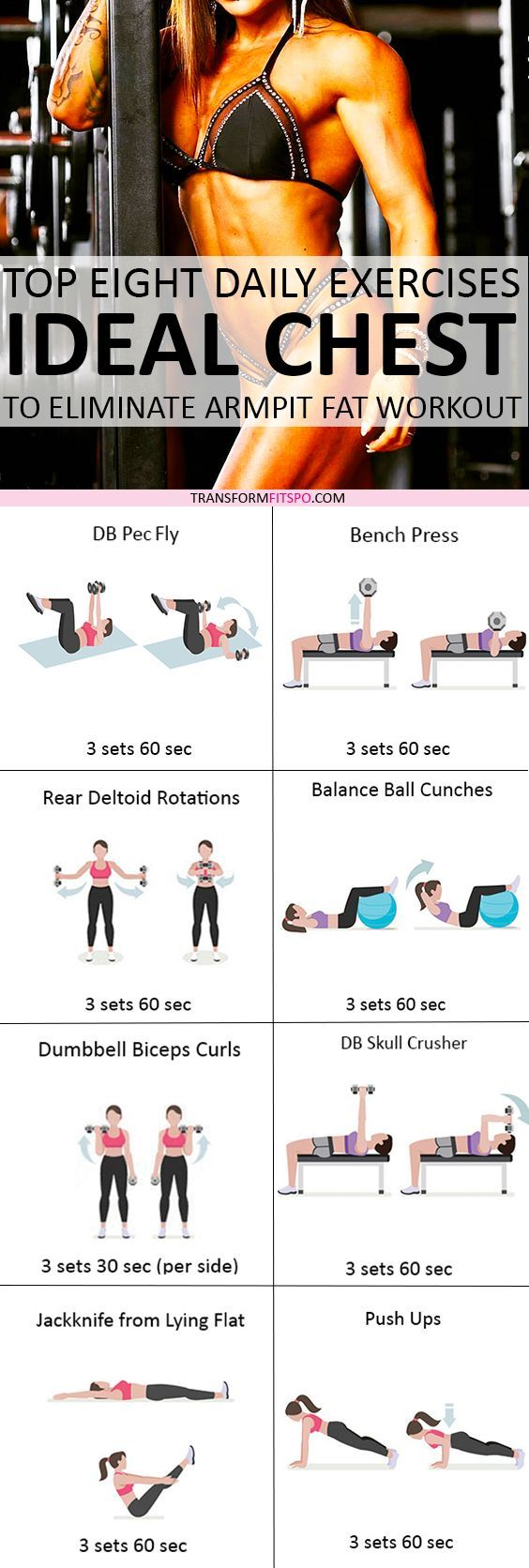 Repin and share if this workout got you in crazy shape! Read the post for all the exercises.