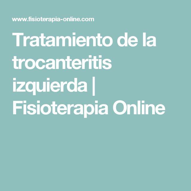 Tratamiento de la trocanteritis izquierda | Fisioterapia Online