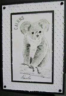 BaRb'n'ShEll Creations - Koala Card - made by Shell
