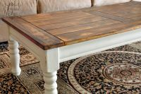I am doing this to my old ugly coffee table....love it!