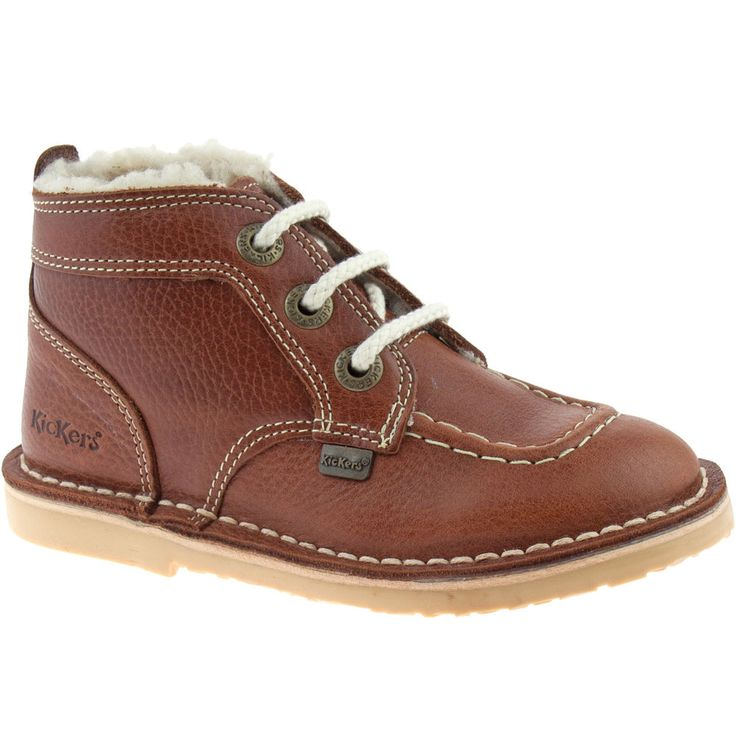 BOYS INFANTS KICKERS ADLAR LEGENDARY LEATHER FUR LINED DARK TAN BOOTS 113529 in Clothes, Shoes & Accessories, Kids' Clothes, Shoes & Accs., Boys' Shoes | eBay