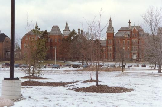 Clinton Valley Asylum, Pontiac, Michigan - demolished 2000 .  used to tap dance , put on shows for the inmates every Christmas was scary but felt sorry for them