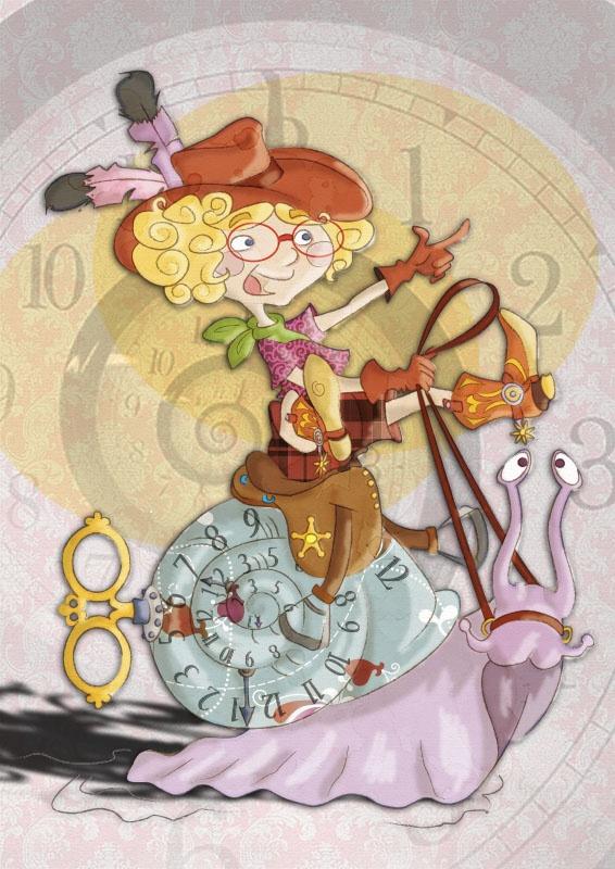 Il #tempo secondo i bambini: sempre troppo #lento! La #chiocciola da corsa. (Illustrator e Photoshop). Time according to children, always too slow for them! (Illustrator & Photoshop).