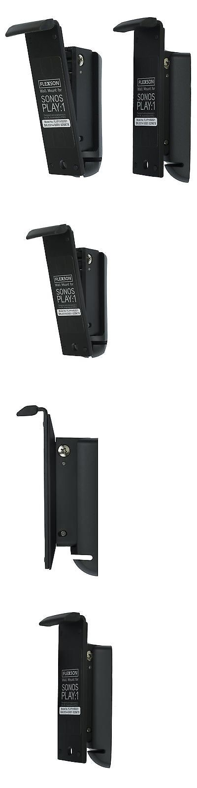 Speaker Mounts and Stands: Flexson Wall Mount For Sonos Play:1 - Pair (Black) -> BUY IT NOW ONLY: $84.99 on eBay!