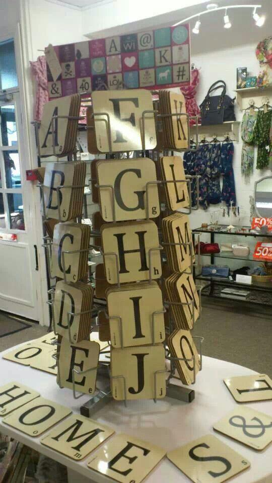 Alphabet coasters!