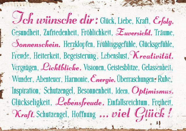 Ich wünsche dir - Postkarten - Grafik Werkstatt Bielefeld