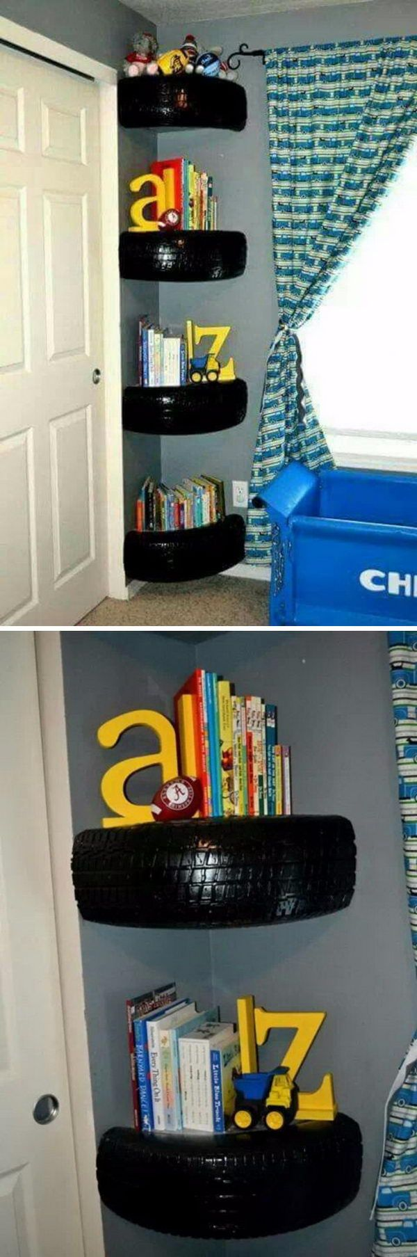 20 cool DIY shelf ideas to enhance your boy's room wall