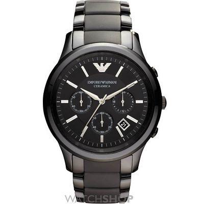 Mens Emporio Armani Ceramic Chronograph Watch AR1452