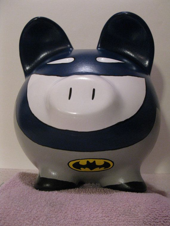 Batpig Piggy Bank Inspired by Batman Unofficial by PigPatrol. , via Etsy.