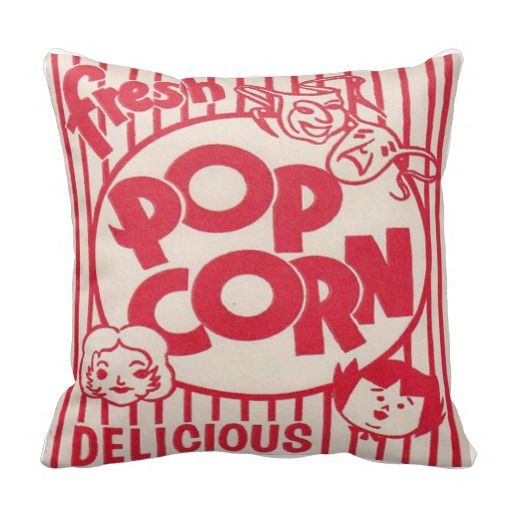 FRESH POPCORN Movie night Pillow