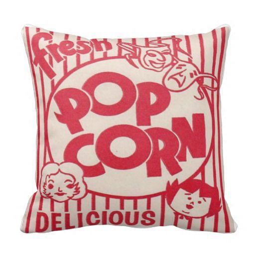 FRESH POPCORN Movie night Pillow