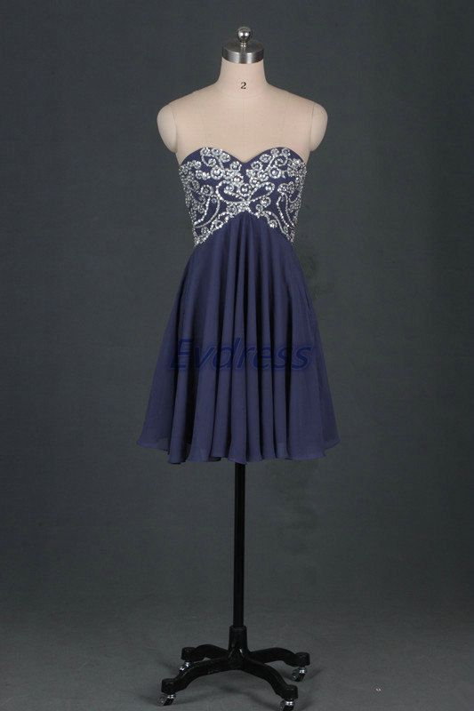 Cheap homecoming dress under 150short chiffon prom by Evdress, $115.00