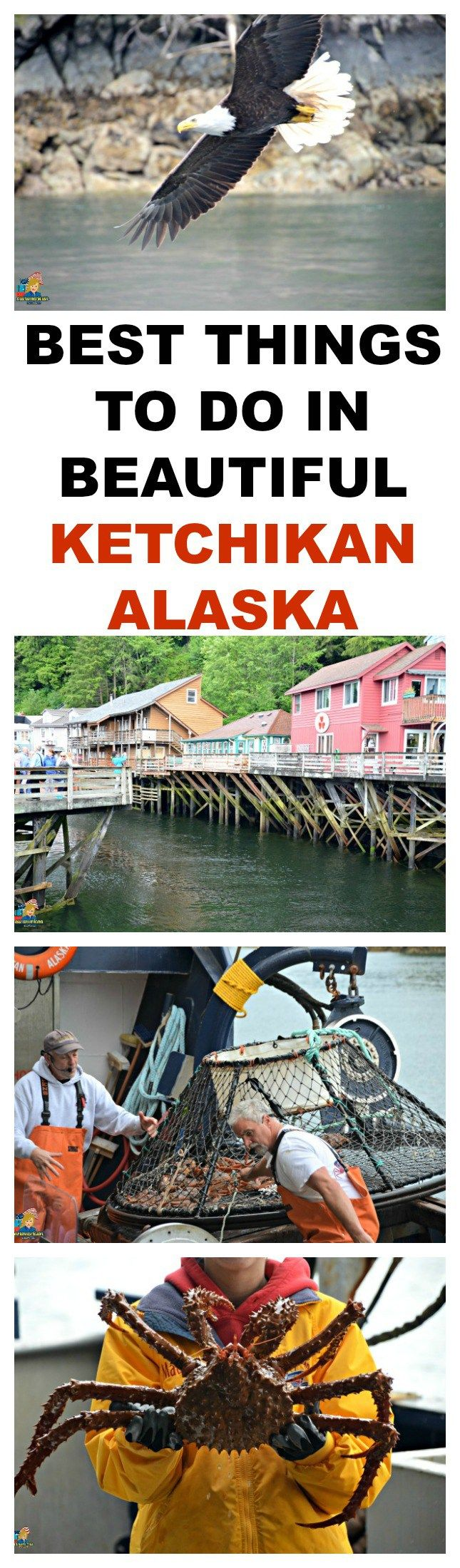 BEST THINGS TO DO IN BEAUTIFUL KETCHIKAN ALASKA - Perfect vacation for everyone. SEE REVIEW HERE: http://ouramericantravels.com/ketchikan-alaska/
