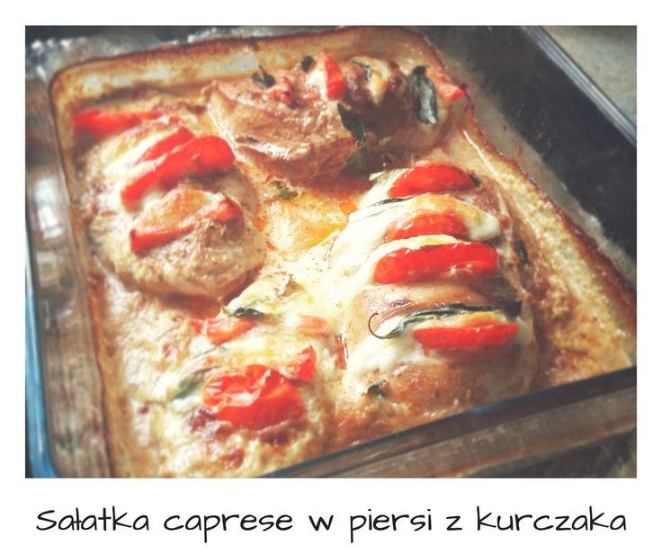 Sałatka caprese w piersi z kurczaka // Hasselback chicken caprese